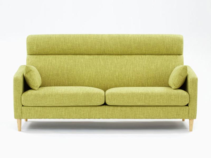 ソファ「クロス」布グリーン色