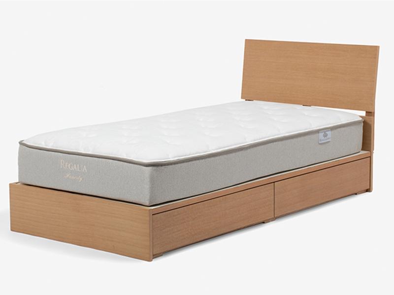 ベッドフレーム 「ルネA2」オーク材ホワイトオーク色