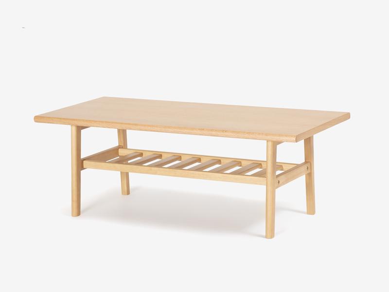 センターテーブル「ユノ」ホワイトオーク色